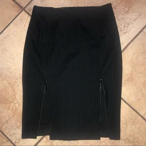 Bebe pinstripe pencil skirt size 2